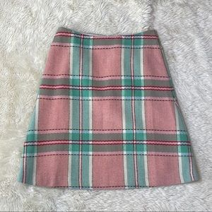 Boden Plaid Wool Lois Skirt - Size 4